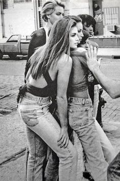 The Original Supermodels in some high-waisted jeans