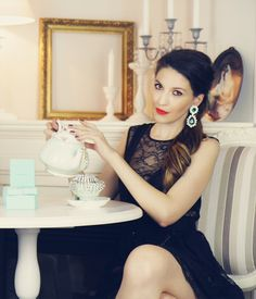 Breakfast with Tiffany's.    #jewellery #accessories #style    Photo credit Tudor Codreanu http://tillustration.tumblr.com/