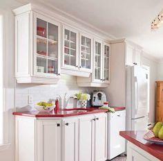 Transformer une armoire de m lamine avec des moulures en tapes d coration et r novation - Revamper armoire melamine ...