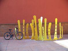 sculptural bike racks