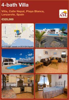 4-bath Villa in Villa, Calle Nepal, Playa Blanca, Lanzarote, Spain ►€325,000 #PropertyForSaleInSpain