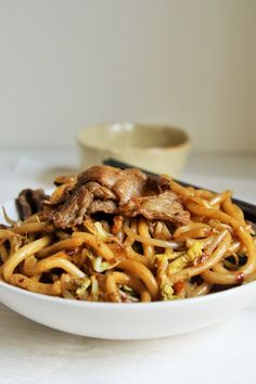Try making this popular Japanese restaurant classic - Stir-Fry Beef Udon Noodles - and I guarantee you'll want to add it to your regular rotation of nightly dinners! Fried Udon, Fried Beef, Asian Recipes, Beef Recipes, Cooking Recipes, Ethnic Recipes, Japanese Recipes, Recipies, Gourmet