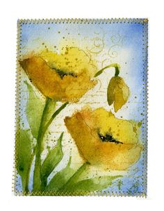 Art du Jour by Martha Lever: Yellow Poppies