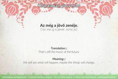 Az még a jövő zenéje. [ˈɑz meːg ɑ jøvøː zɛneːje] https://dailymagyar.wordpress.com/2016/08/18/hungarian-proverbs-47/ #Hungarian #language #proverb #saying #magyar