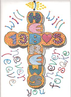 Hebrews 13: 5 created for Lula for Christmas.