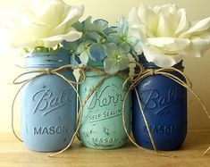 NEIGE / / hiver Decor / / Painted Decor Mason Jar par curiouscarrie