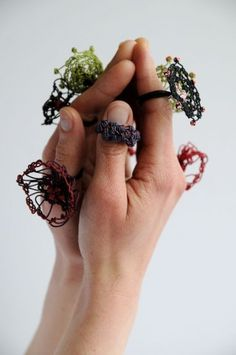 crochet jewelry by Aude Tahon