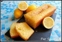 Voici la recette d'un cake au citron, très parfumé, que j'adore... Encore une recette que je fais depuis l'adolescence... La... Un Cake, Ramadan Recipes, Apple Cake, Cheesecakes, Cornbread, Lemon, Baking, Tableware, Sweet
