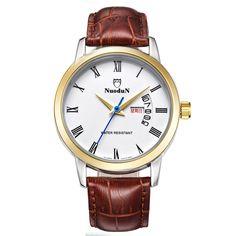 $37.98 (Buy here: https://alitems.com/g/1e8d114494ebda23ff8b16525dc3e8/?i=5&ulp=https%3A%2F%2Fwww.aliexpress.com%2Fitem%2FNuodun-Retro-Watch-Men-Leather-Strap-Quartz-Watch-With-Week-Calendar-Man-Business-Watches-Waterproof-Wristwatch%2F32688281542.html ) Nuodun Retro Watch Men Leather Strap Quartz Watch With Week Calendar Man Business Watches Waterproof Wristwatch Relogios Homens for just $37.98