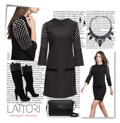 """""""Lattori dress"""" by cassy-style ❤ liked on Polyvore featuring Lattori, Post-It, BCBGMAXAZRIA and Kate Spade"""