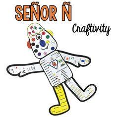 Señor Ñ {End of School Year Craftivity} Month Numbers, Seasons Months, Spanish Teaching Resources, End Of School Year, Spanish Teacher, Interactive Notebooks, Teacher Newsletter, Languages, Homework