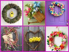 (166) 25 Cute Spring Wreath Ideas - DIY Home Decor - YouTube
