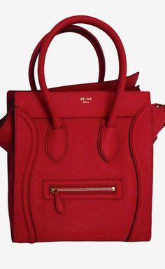 Céline Celine Coquelicot Red Mini Luggage Tote | VAUNTE