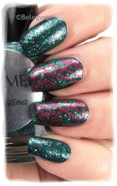 Nail Art by Belegwen: Shimmer Polish: Cristina #nails #nailart