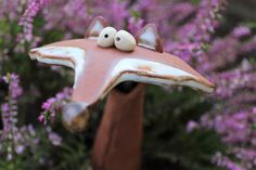 Garden figures – Reinecke, the fox – a designer – Garden Art Sculptures - Valentinstag Dekoration Ceramic Pottery, Pottery Art, Sculpture Art, Sculptures, Garden Sculpture, Garden Art, Garden Design, Pottery Animals, Garden Animals