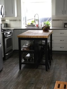 Would this board work for your DIY Kitchen cart? dimensions - 17 x 13 x 1 thick Decor, Larch Wood, Kitchen Remodel, Diy Kitchen Cart, Kitchen, Island Countertops, Diy Kitchen, Countertops, Home Decor