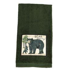 Wilderness Black Bear Patch Terry Kitchen Towel
