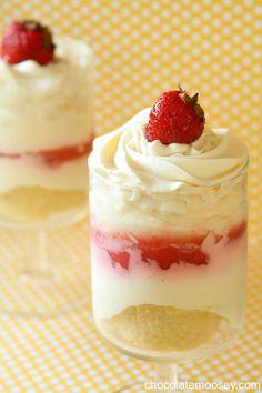 Strawberry Cheesecake Parfaits (1/4 cup sweetened condensed milk, 4 oz cream cheese)  makes 2.