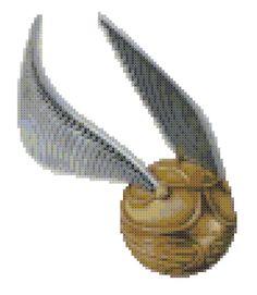 Harry Potter Golden Snitch Cross Stitch by KatsCrossStitchery Beaded Cross Stitch, Crochet Cross, Cross Stitch Embroidery, Cross Stitch Designs, Cross Stitch Patterns, Knitting Patterns, Perler Beads, Vif D'or, Harry Potter Cross Stitch Pattern
