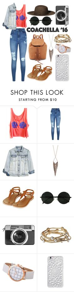 """""""Untitled #45"""" by selena-sok on Polyvore featuring Lipsy, Jules Smith, H&M, Casetify, Majique, Felony Case, Spring, Leather, accessories and packforcoachella"""