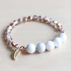 mala bracelet / howlite mala by hands.love.jewerly