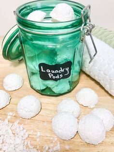 Try this Quick and Easy DIY Laundry Pods recipe to make your laundry habits easier, cheaper, and safer for your family and the environment. Essential Oils For Laundry, Homemade Essential Oils, Homemade Cleaning Products, Natural Cleaning Products, Cleaning Diy, Cleaners Homemade, Diy Cleaners, Homade Laundry Detergent, Laundry Bombs