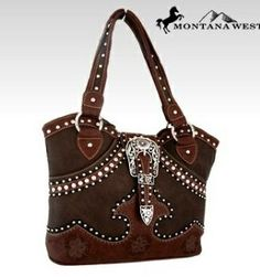 Montana West Western Buckle Tote