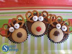 Reindeer Cupcakes - easy fun Christmas treat (the kids loved it!) @Jò in Wonderland Beckum