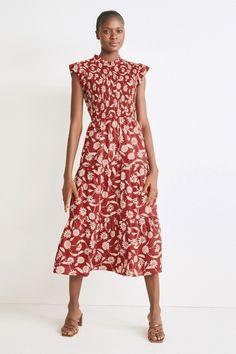 Cheap Dresses, Casual Dresses, Shirred Dress, Occasion Wear, Uk Online, Floral, Short Sleeve Dresses, Arthritis Exercises, Knee Arthritis