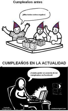 Cumpleaños antes y ahora