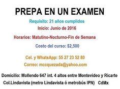PREPA EN UN EXAMEN, CENEVAL 286, CURSOS DE INGRESO A UNAM/IPN/UAM,REGULARIZACIÓN TODOS LOS NIVELES  #Prepa, #Examen, #Ceneval, #Cursos, #Ingreso, #Unam, #Regularizacion, #Todos, #Niveles