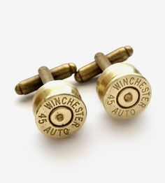 Upcycled Winchester Bullet Cufflinks by Release Me Design on Scoutmob