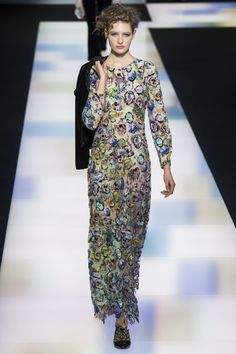 Sanne Vloet for Giorgi Armani - Fall/Winter 2016 - Milan Fashion Week.