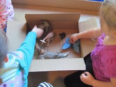 A story in a box.  I especially love this idea for teaching Bible stories and letting the kids act them out.
