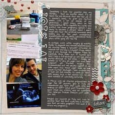 Baby Scrapbook, Scrapbook Cards, Ivf Cycle, Here's The Thing, Digital Scrapbooking Layouts, Niece And Nephew, Endometriosis, Fertility, Family History