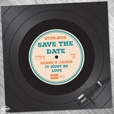 Vinyl Record Wedding Save The Dates / Wedding Invitations http://www.wedfest.co/vinyl-record-wedding-invites-save-the-dates/