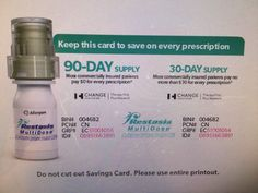 image about Restasis Coupons Printable named 70 Ideal Drug brand name discount coupons photos within 2018