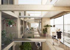Swedish Housing and Market Hall Hybrid  ----  JAJA Architects [ Semi Space ]                                                                                                                                                                                 More