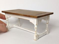 Rustic dining table. Dollhouse miniature table. by MinisbyAngie, €26.00