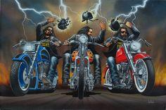 """Helmet Protest"" - Originals - All Artwork - David Mann - Motorcycle Art | Fine Art World"