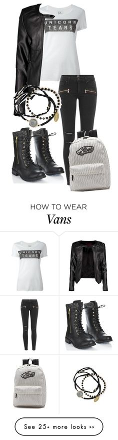 """""""Unicorn tears"""" by little-turtle-weasley on Polyvore featuring Zoe Karssen, Boohoo, Paige Denim, Feather & Stone and Vans"""