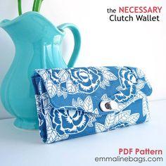 Le patron de couture Clutch Wallet nécessaire : Un par EmmalineBags