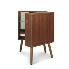 The Oliver drinks cabinet, oak by Bertil Stam boasts a seat finish in , with a leg finish in . Designed by Bertil Stam, this beautiful drinks cabinet is the perfect compliment to a mid-century modern living room. Bar Furniture, Cabinet Furniture, Furniture Design, Commode Design, Cabinet Design, Mini Bars, Modern Buffet, Cabinet Shelving, Ikea
