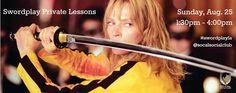 Swordplay Private Lessons Tickets & Info at www.swordplayla.eventbrite.com  #socalsocialclub #swordplayla #swordfighting #stagecombat #timweske