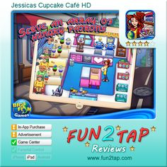 Jessicas Cupcake Café HD - Not everybody is comfortable with wasting so much food. Full review at: http://fun2tap.com/index.cfm#id213 --------------------------------------  #Apps  #Games #iPad #iPhone #Casualgames