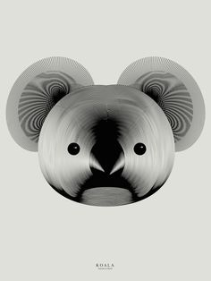 New Animals Drawn with Moiré Patterns by Andrea Minini