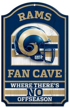 Los Angeles Rams Wood Sign - 11x17 Fan Cave Design