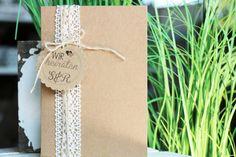Einladungskarten - Bastelset Einladung Kraftpapier Kartenset Hochzeit - ein Designerstück von majalino bei DaWanda
