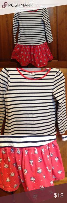 5T Gymboree dress Cute navy/ white stripe + coral print dress.  Excellent condition. Gymboree Dresses Casual