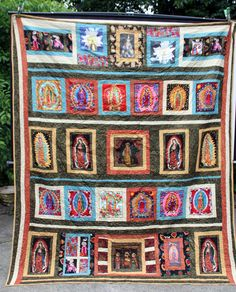 Beautiful Virgin Mary Quilt